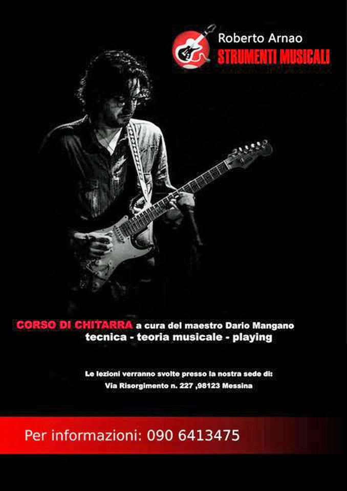 Corso di chitarra con il Maestro Dario mangano