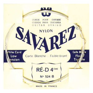 SAVAREZ Set di 6 corde per chitarra classica WHITE CARD (confezione Bianca), tensione bassa. 520B 14100036